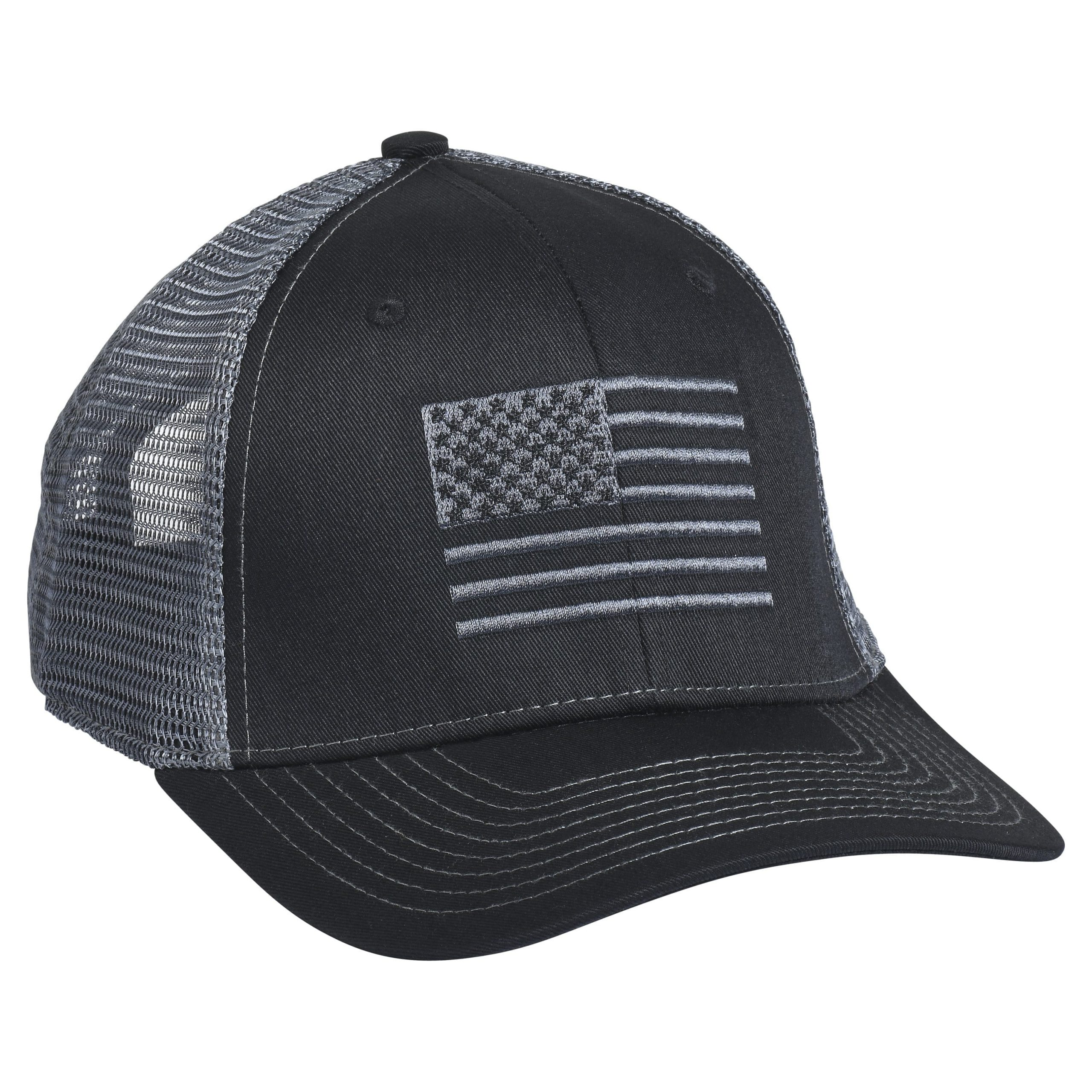 American Flag Embroidery Black