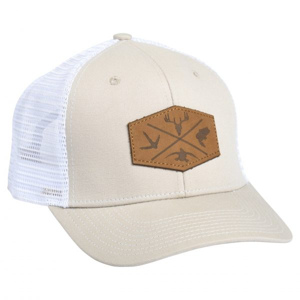 Outdoor Leather Patch Tan/White