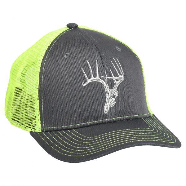 Skullz Hat Charcoal/Neon Green