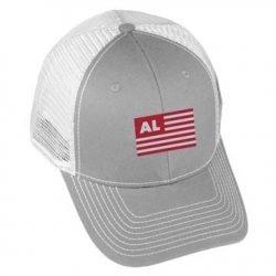 USA Flag - AL - Grey/White