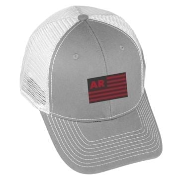 USA Flag - AR - Grey/White
