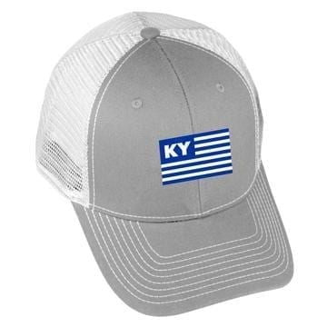 USA Flag - KY - Grey/White