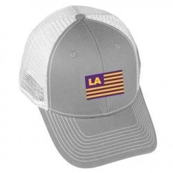 USA Flag - LA - Grey/White