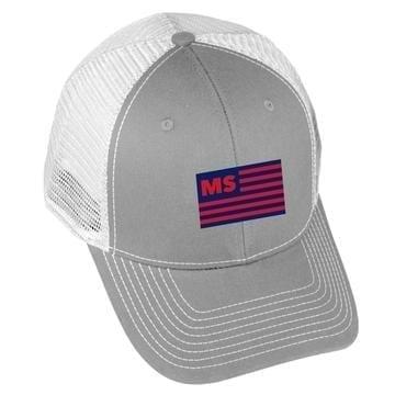 USA Flag - MS - Grey/White