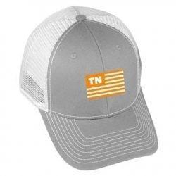 USA Flag - TN - Grey/White