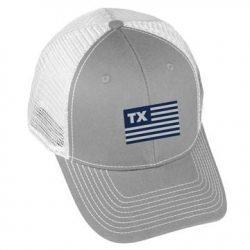 USA Flag - TX - Grey/White