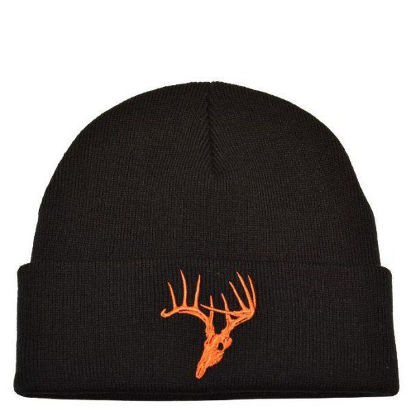 Deer Skull Knit Black