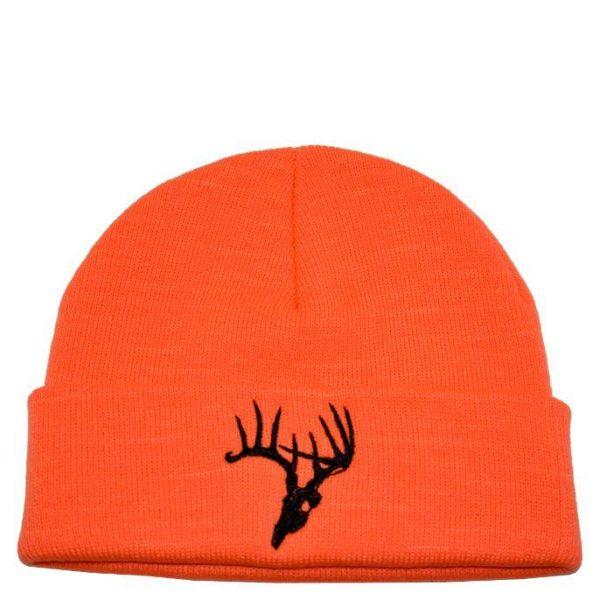 Deer Skull Knit Orange