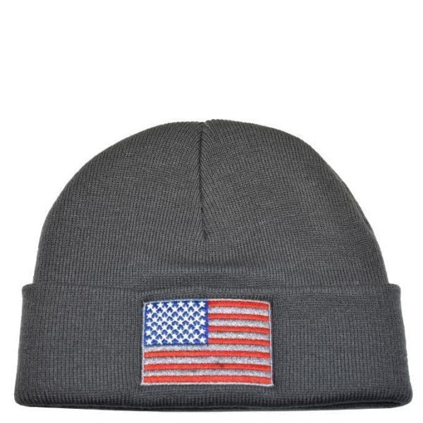 American Flag Knit Charcoal
