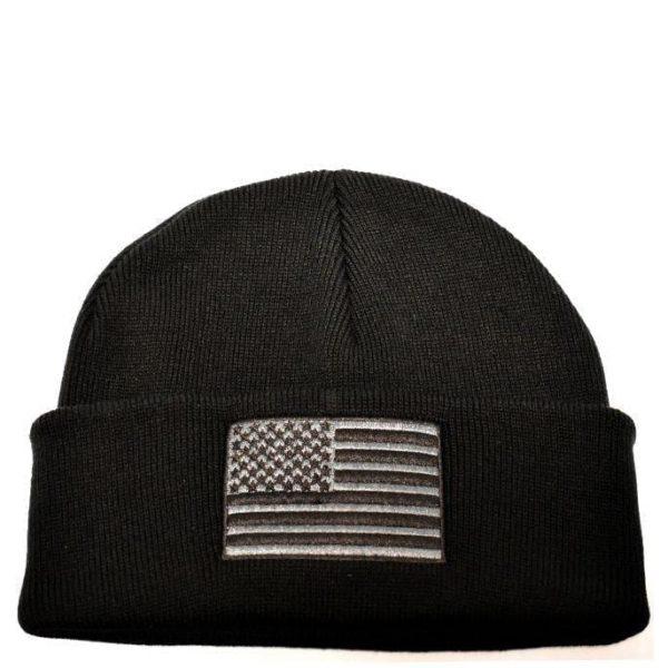 American Flag Knit Black