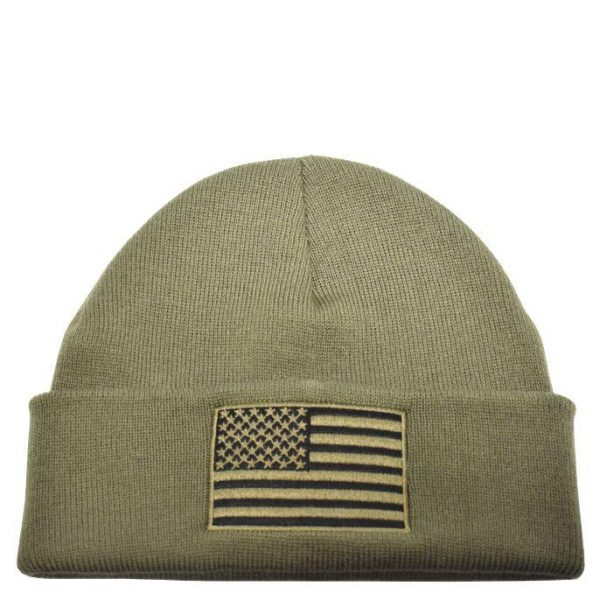American Flag Knit OD Green
