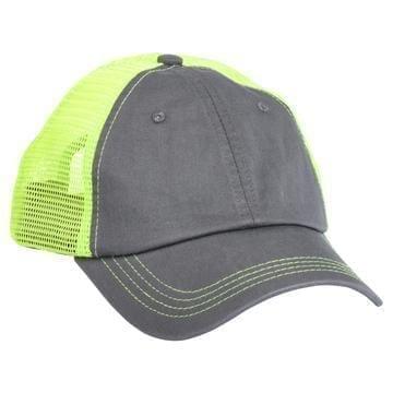 615 Mesh Snapback Hat Charcoal/Neon Green