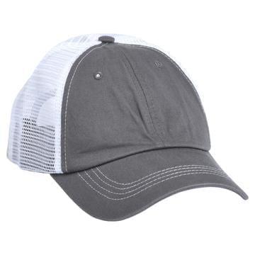 615 Mesh Snapback Hat Charcoal/White