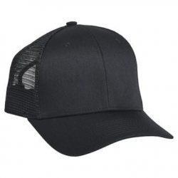 901 Mesh Snapback Hat Black/Black