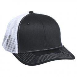901 Mesh Snapback Hat Black/White
