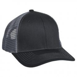 901 Mesh Snapback Hat Black/Charcoal