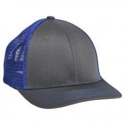 901 Mesh Snapback Hat Charcoal/Blue