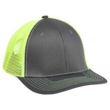 901 Mesh Snapback Hat Charcoal/Safety Yellow