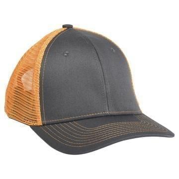 901 Mesh Snapback Hat Charcoal/Orange