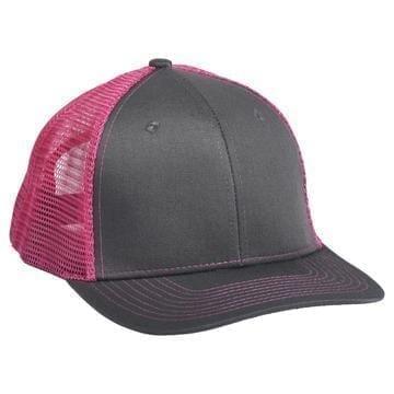 901 Mesh Snapback Hat Charcoal/Pink