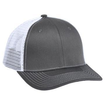 901 Mesh Snapback Hat Charcoal/White