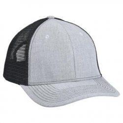 901 Mesh Snapback Hat Heather/Black