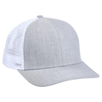 901 Mesh Snapback Hat Heather/White