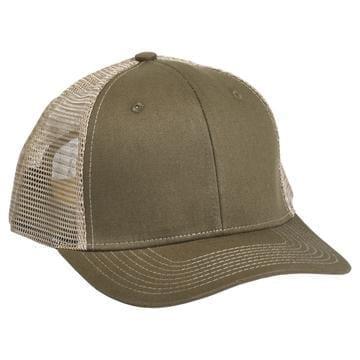 901 Mesh Snapback Hat OD Brown/Khaki