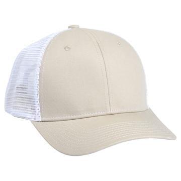 901 Mesh Snapback Hat OD Tan/White