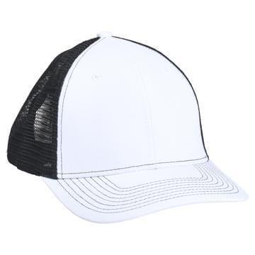 901 Mesh Snapback Hat OD White/Black