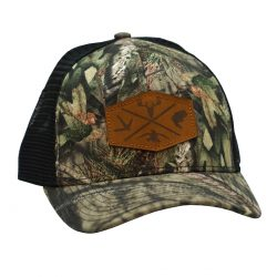 Mossy Oak Outdoor Series Leather Patch Break up country Mesh black