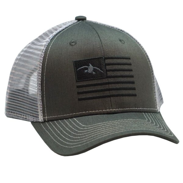 Duck Flag Embroidery Charcoal/Grey