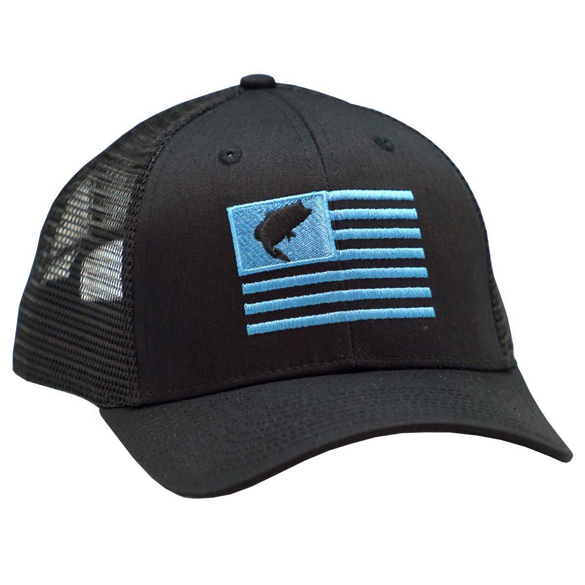 Bass Flag Embroidery Black Blue 2