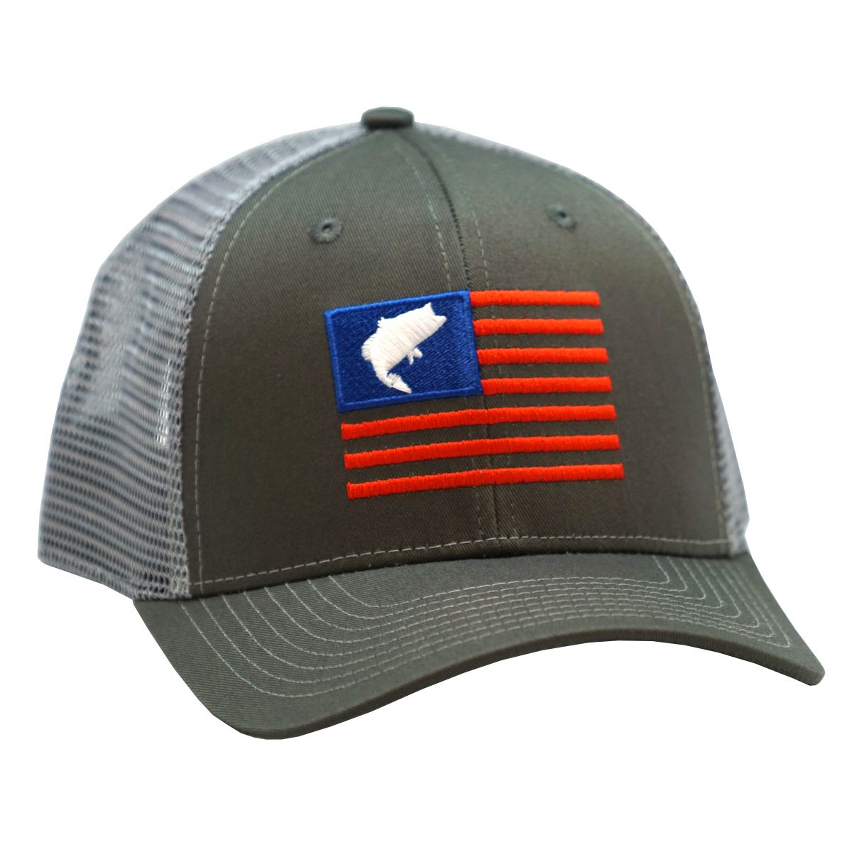 Bass Flag Embroidery Charcoal Grey 3