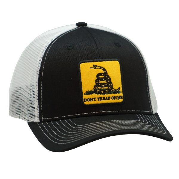 Dont Tread on me Embroidery Black white