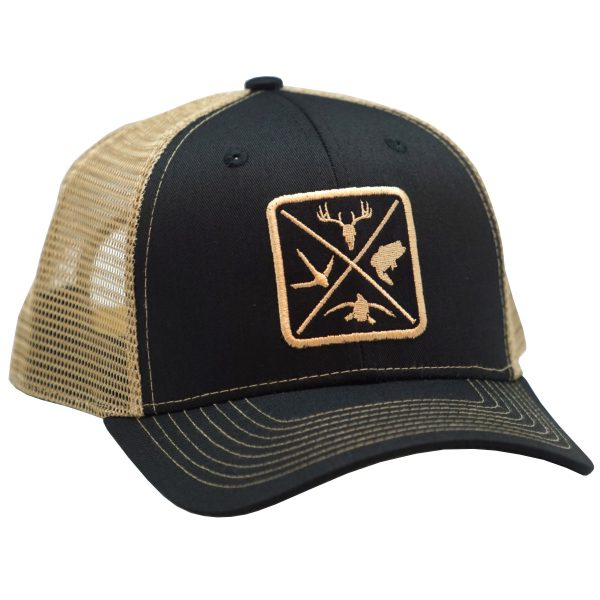 Outdoor Woven patch black tan