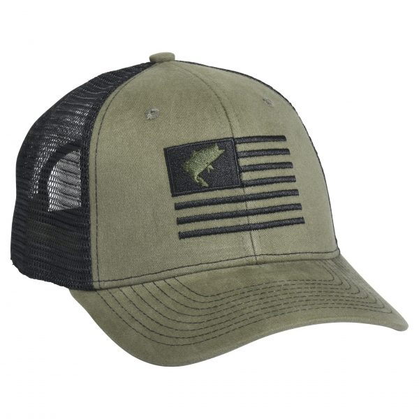 Bass Flag Embroidery moss Green Black