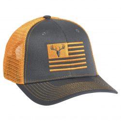 Deer Flag Embroidery Charcoal Neon Orange