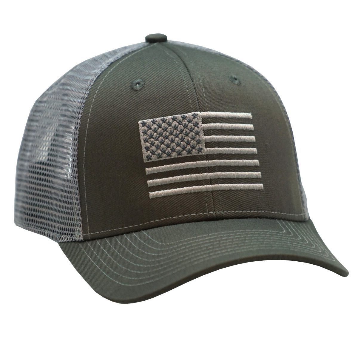 American Flag Embroidery Charcoal/Gray
