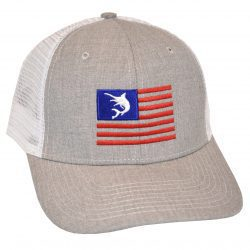 Marlin Flag Embroidery Heather White